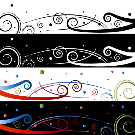 An image of a swirl celebration banner set. Stock Vector - 15488519