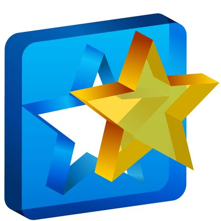 gold star: An image of a star mold cutout icon.