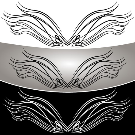 angel white: An image of an abstract angel wing set. Illustration