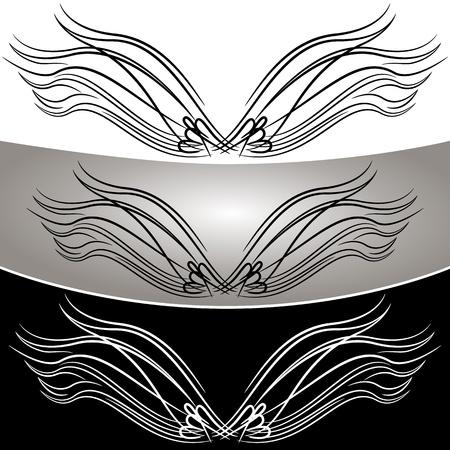 Een afbeelding van een abstract engel vleugel set.