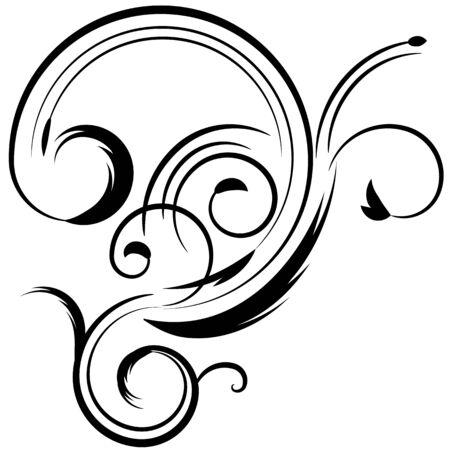 Ein Bild von einer abstrakten floralen Design-Element. Standard-Bild - 15166316