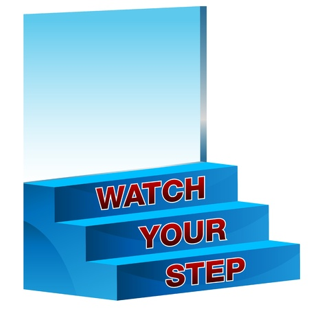 An image of a watch your step icon.