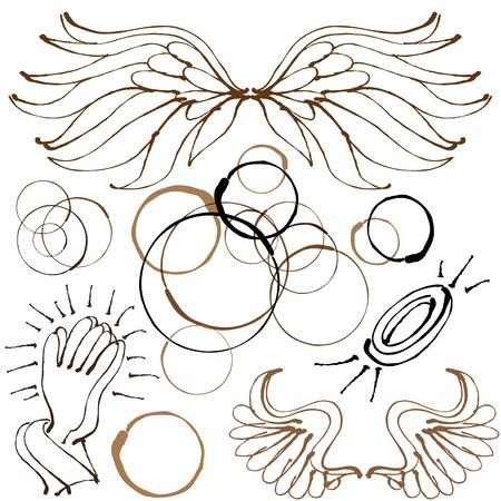 An image of an angel object set.