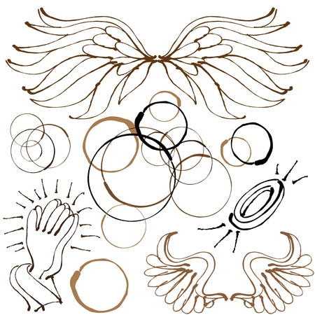 An image of an angel object set. Stock Vector - 15316274
