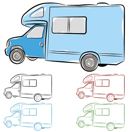 rv: An image of an rv camper drawing.