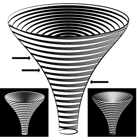 An image of a halftone funnel chart. Stock Vector - 15398247