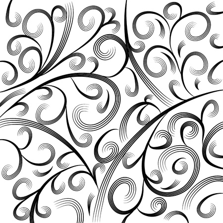 scratchboard: An image of a wave engraving background. Illustration