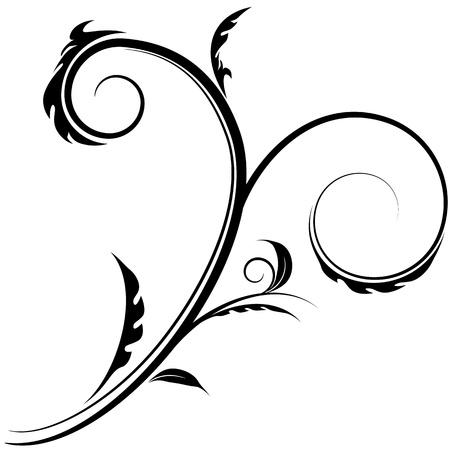 vine art: An image of a flourish swirl drawing.
