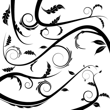 An image of a floral vine. Stock Vector - 15398243
