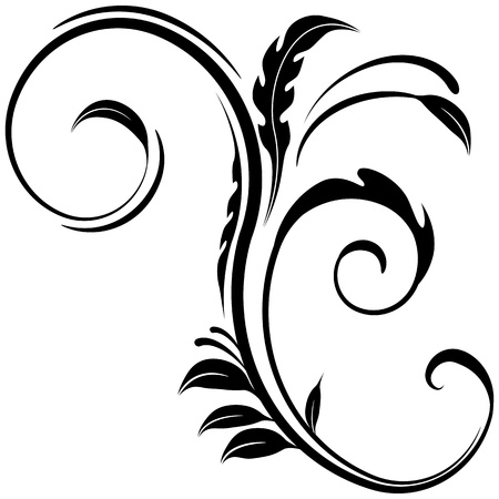 An image of a floral design element. Vector