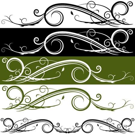 An image of a flourish banner. Stock Vector - 15561295