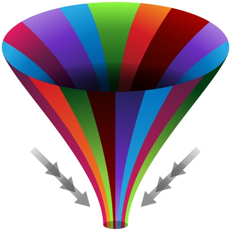 convergence: An image of a funnel channels chart.