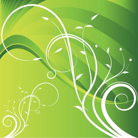green swirl: An image of a floral branch energy.