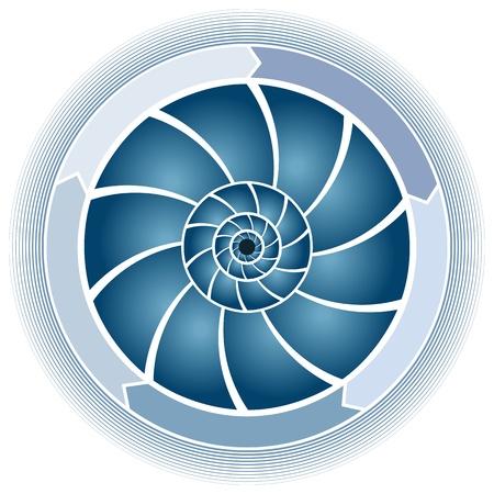 An image of a swirl circle chart.