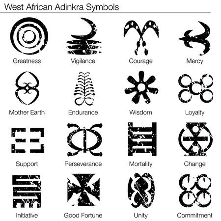 Een beeld van een West-Afrikaanse Adinkra symbolen.