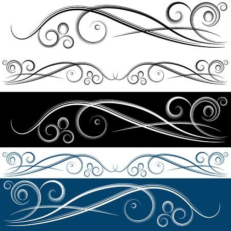 lineas onduladas: Una imagen de un conjunto bandera remolino.