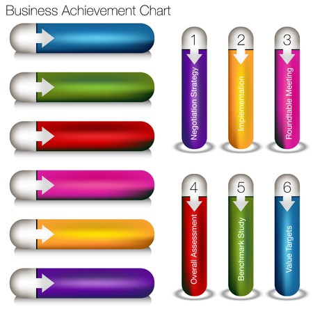 An image of a business achievement chart. Vector