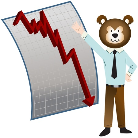 bear market: An image of a bear market. Illustration