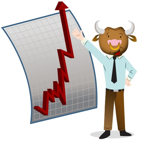 red bull: An image of a bull market.