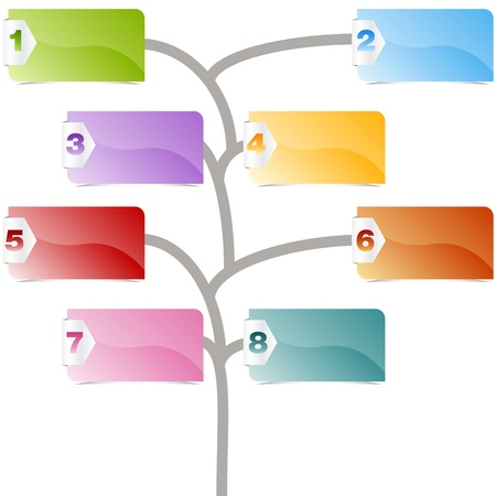 diagrama de arbol: Una imagen de un gráfico de árbol opción. Vectores