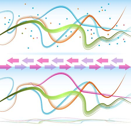 An image of an abstract communication ribbon. Stock Vector - 17336194