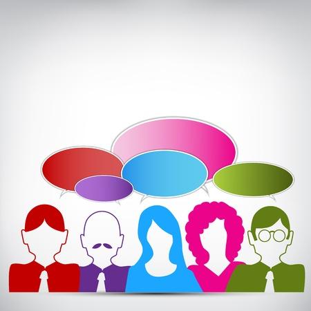 business discussion: Una imagen de un pueblo que tiene una discusi�n de negocios.