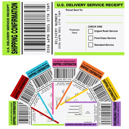 An image of a shipping confirmation receipt. Stock Vector - 17336203