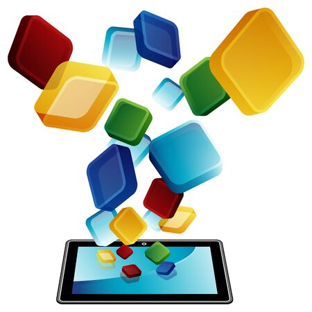 An image of a tablet apps.