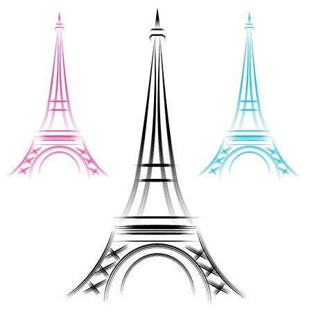 Een afbeelding van een abstract Eiffeltoren.