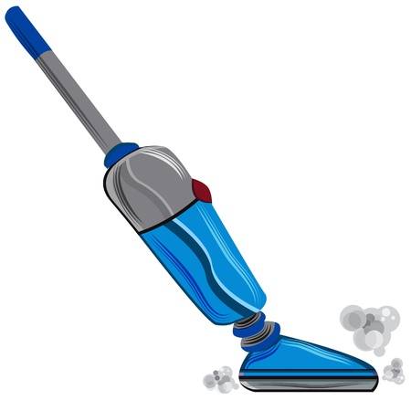 vacuum cleaner: An image of a vacuum. Illustration