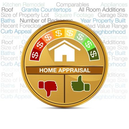 valor: Una imagen de un metro tasaci�n de la casa. Vectores