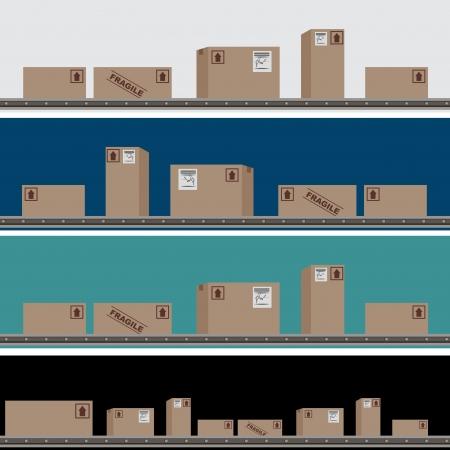 Une image d'un ensemble de distribution bannière. Banque d'images - 17627083