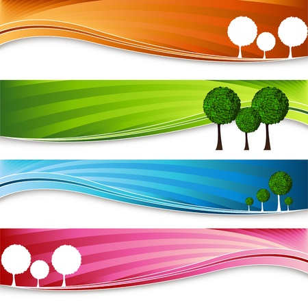 An image of a set of orchard tree banners.