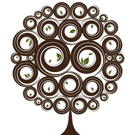 tree isolated: An image of a leaf tree Illustration