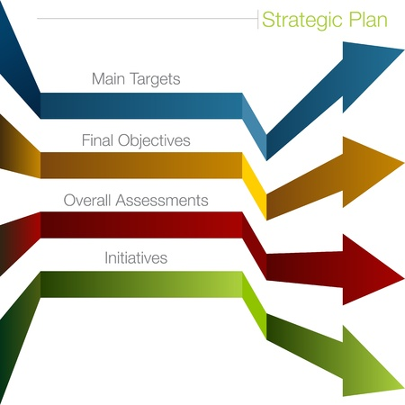 An image of a strategy plan background. Vector