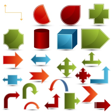 An image of a set of chart shapes.