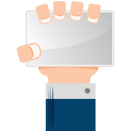 An image of a hand holding a sign. Stock Vector - 17937604