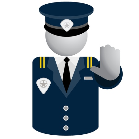 enforcement: An image of a security police icon. Illustration