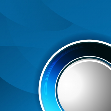 curving: An image of a blue round button background.