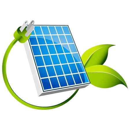 plugin: An image of a solar panel icon with green leaf plug.