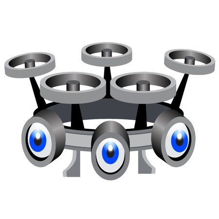 An image of a surveillance spy drone icon.