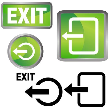 web icons: An image of a exit icons.
