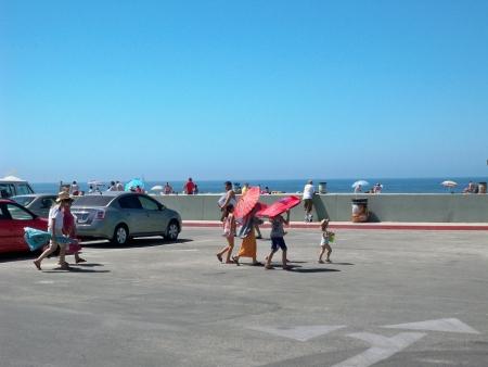An image of a asian tourists at Venice Beach California 03-10-2008