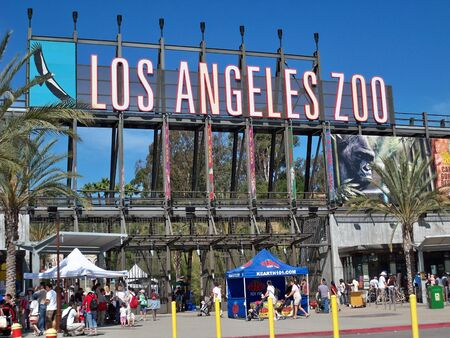 entrance sign: An image of a Los Angeles Zoo Entrance 04-19-2009