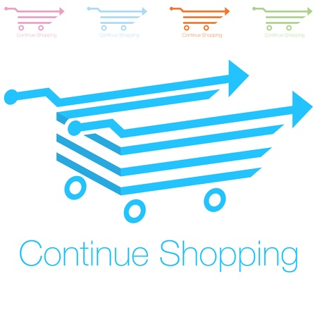 An image of a continue shopping icon.