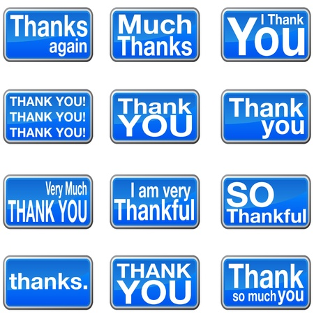 An image of a thank you icons. Vector