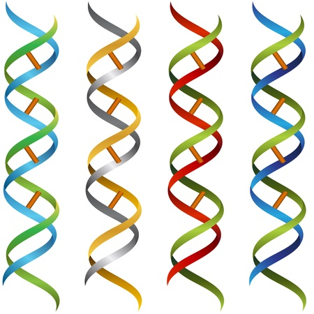 An image of a DNA ribbon set Banco de Imagens - 20725061
