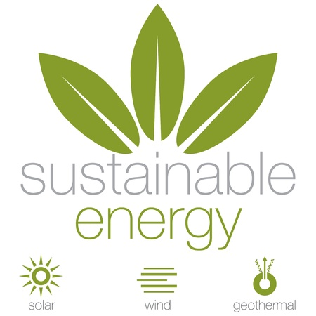 An image of a sustainable energy symbols