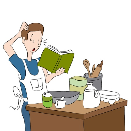 An image of a confused cook
