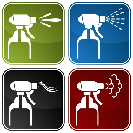 spray bottle: An image of spray bottle icons.